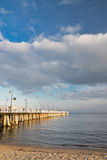 Baltic sea and pier in gdynia orlowo in poland in the summertime, europe Royalty Free Stock Image