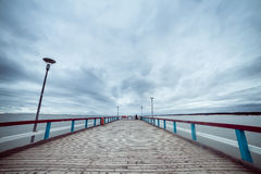 The Baltic Sea and a pier Stock Image