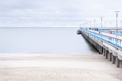 The Baltic Sea and a pier Stock Photo