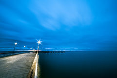 The Baltic Sea and a pier Royalty Free Stock Photography