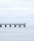 The Baltic Sea and a pier Royalty Free Stock Photo
