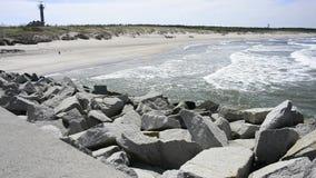Baltic Sea in Poland, beach of Ustka stock video
