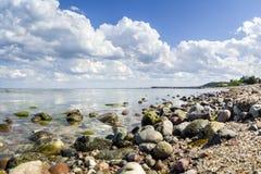 Baltic sea in Poland,. Gdynia Orlowo Stock Image