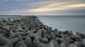 Baltic Sea,  Poland - long exposure time Royalty Free Stock Images