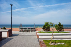 Baltic Sea Promenade in Town of Hel Royalty Free Stock Image