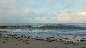 Baltic sea quietly splashing stock video footage