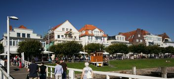 Baltic Sea Resort. Hotel and restaurant owners in the Baltic Sea resorts of Schleswig Holstein (Germany) are happy with the 2011 summer season. An unusually high Stock Photo