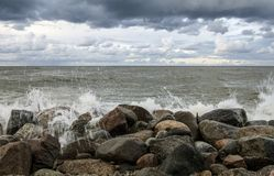Baltic Sea. Rozewie, Baltic Sea in Poland Stock Photography