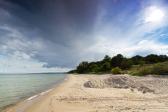 Baltic Sea with sandy beach. Swedish side of Baltic Sea with sandy beach Royalty Free Stock Photography