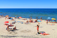 Baltic sea sandy beach in Kulikovo Royalty Free Stock Images