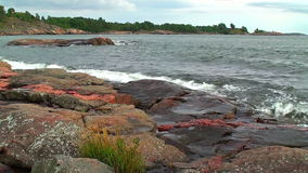 Baltic sea in Scandinavia stock video