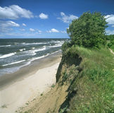 The Baltic Sea scenery. Baltic Sea. A cliff coast Royalty Free Stock Photos
