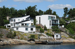 Baltic sea and seaside in Stockholm Stock Photography