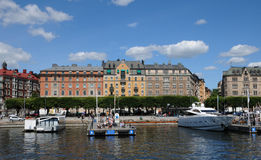 Baltic sea and seaside in Stockholm Stock Photos