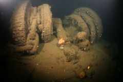Baltic Sea Ship Wreck Photo Underwater Royalty Free Stock Image