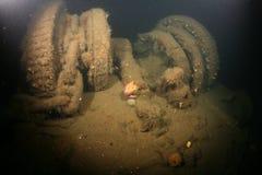 Baltic Sea Ship Wreck photo underwater. Baltic Sea underwater diving Ship Wreck photo royalty free stock image