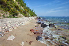 Baltic Sea Shore in Gdynia Stock Images