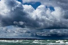 Baltic sea shore in Latvia. In a stormy weather Royalty Free Stock Images