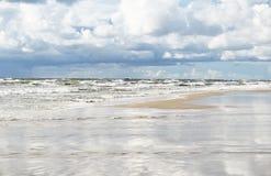 Baltic sea. Shore of the Baltic sea, Lithuania stock photo