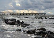 Baltic sea. Shore of the Baltic sea, Lithuania stock photos