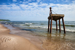 Baltic Sea Shore in Poland Royalty Free Stock Photo