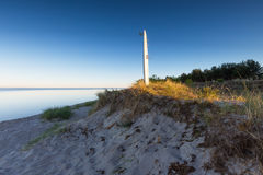 Baltic sea shore after sunset Stock Image