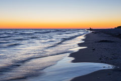Baltic sea shore after sunset Stock Photo