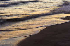 Baltic sea shore after sunset Royalty Free Stock Photos