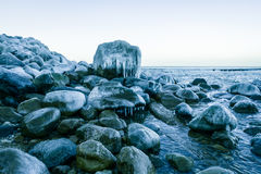 Baltic sea shore at winter Stock Photography