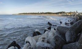 Baltic sea side beach pier. royalty free stock photos