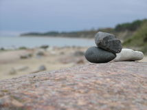 Baltic sea. Stone pyramid of the Baltic Sea Royalty Free Stock Photos