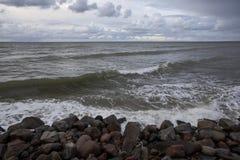 Baltic Sea. Stones on the beach. Baltic Sea Royalty Free Stock Photo