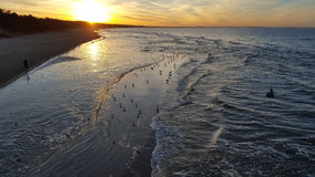 The Baltic Sea at sunset 05 Stock Images