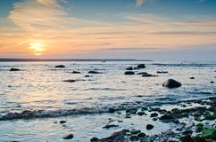 Baltic Sea at sunset. Coast of the Baltic Sea at sunset Royalty Free Stock Photography