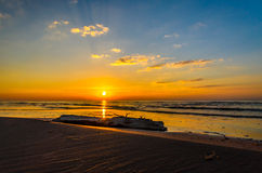 Baltic sea sunset coastline near Riga Royalty Free Stock Image