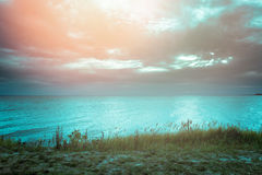 Baltic sea at the sunset Royalty Free Stock Photography