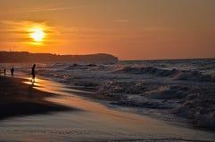 Baltic sea sunset, Poland Royalty Free Stock Photography