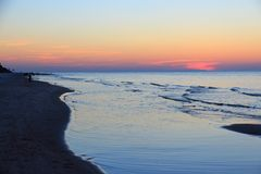 Baltic Sea sunset Stock Images