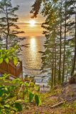 Baltic Sea sunset. This is a view of sunset in Miedzyzdroje by the Baltic Sea in Poland Stock Image
