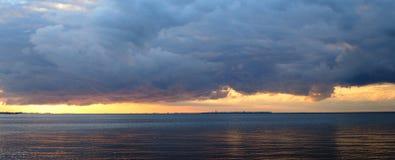 Baltic sea at sunset. Stock Photo