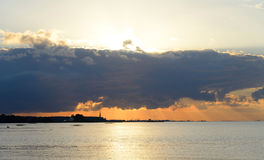 Baltic sea at sunset. Royalty Free Stock Images