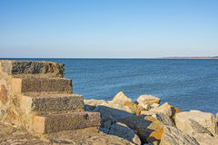 Baltic Sea view of the mole of Ustka, Poland Stock Photography