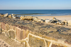 Baltic Sea view of the mole of Ustka, Poland Stock Photos