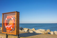 Baltic Sea view of the mole of Ustka, Poland Stock Images