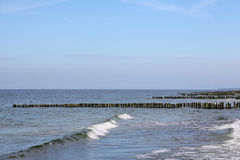 Baltic Sea waters and breakwaters Royalty Free Stock Photos