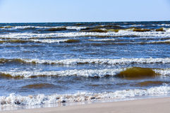 Baltic sea wave Royalty Free Stock Images