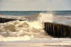 Baltic sea. Waves at the baltic sea Royalty Free Stock Photo