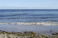 Baltic sea. Waves on Baltic sea, view from the coast in autumn Stock Image