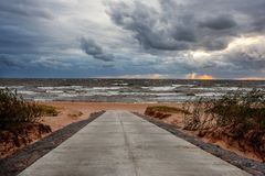 The Baltic Sea during the wind. royalty free stock photos
