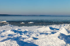 Baltic sea in winter. Royalty Free Stock Photos